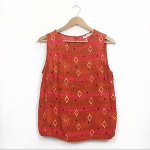 Vintage | Burnt Orange Boho Tank Top Blouse sz 8